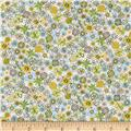 Kaufman London Calling Lawn Sketch Floral Green