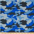 Cotton Twill Blue Camo