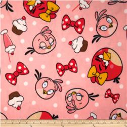 Angry Birds Fleece Stella & Dots Pink Fabric