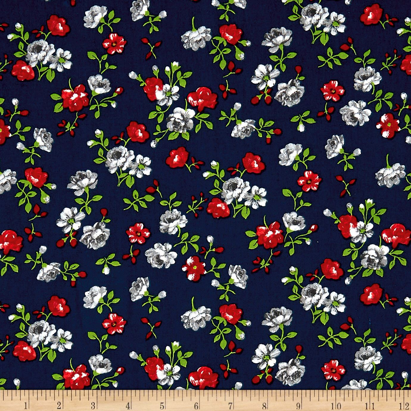INOpets.com Anything for Pets Parents & Their Pets Botanical Garden Navy Fabric