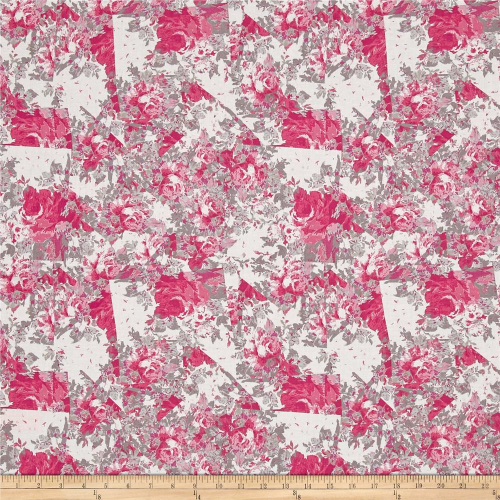 Tina Givens Rose Water Broken Glass Pink Fabric