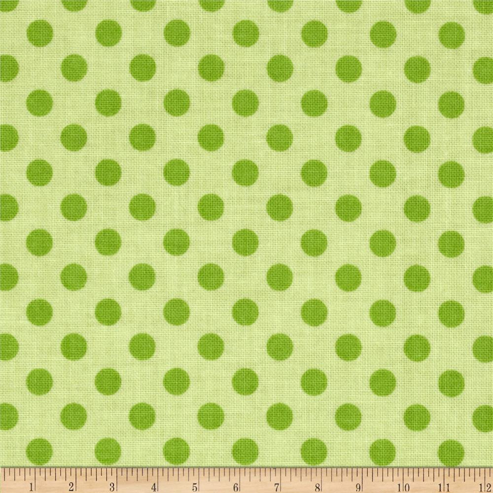Riley Blake Basics Small Dots Green