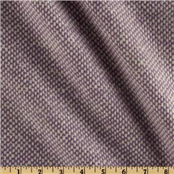 Wool Blend Coating Basketweave Lavender/White