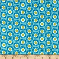 Kaufman 21 Wale Cool Cords Retro Dots Sky