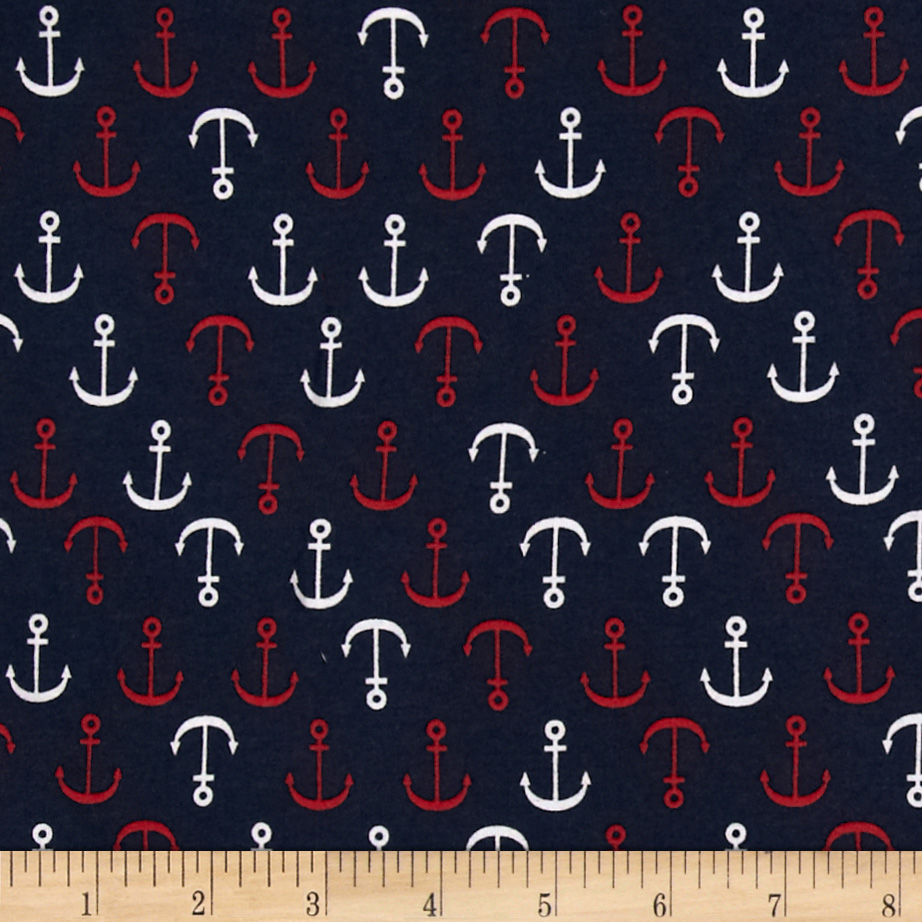 Michael Miller Out To Sea Anchors Away Navy Discount