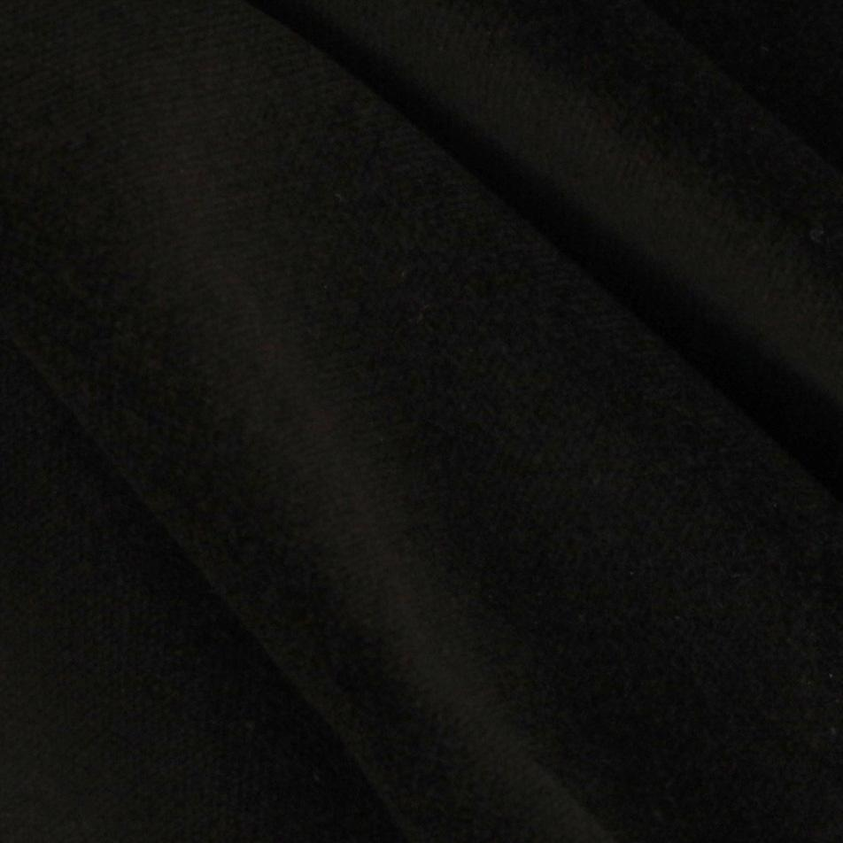 Doux cotton velvet black discount designer fabric for Black fabric
