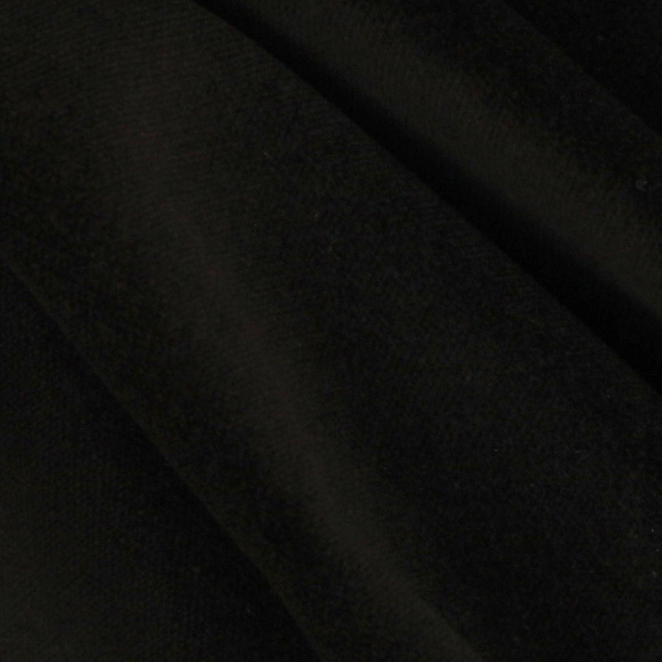 Doux Cotton Velvet Black Fabric