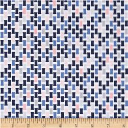 Baby Boutique Checkboard Weave Navy/Pink