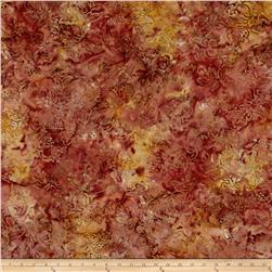Malam Batiks Ornate Floral Peach