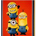 Universal Despicable Me 1 in A Minion Minion Trio 36 In. Panel Orange