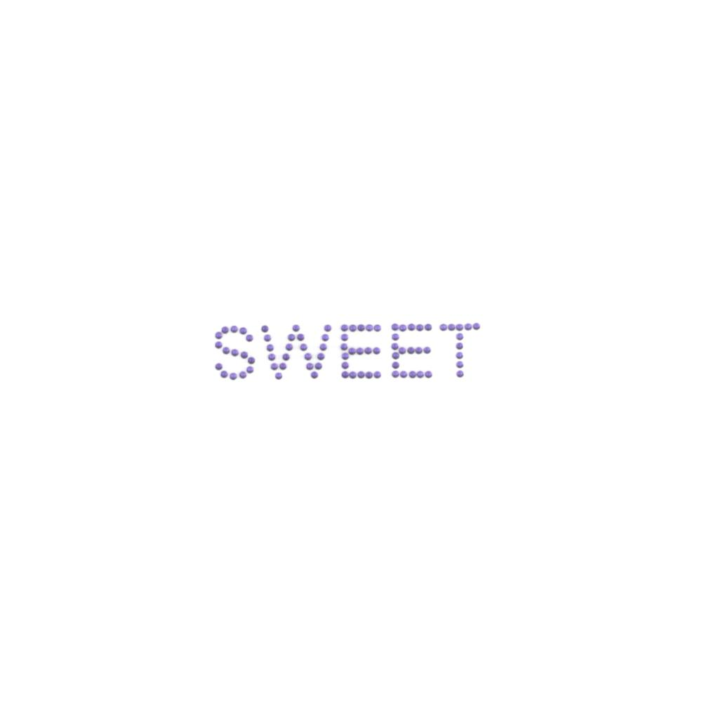 Sweet Rhinestud Applique Purple