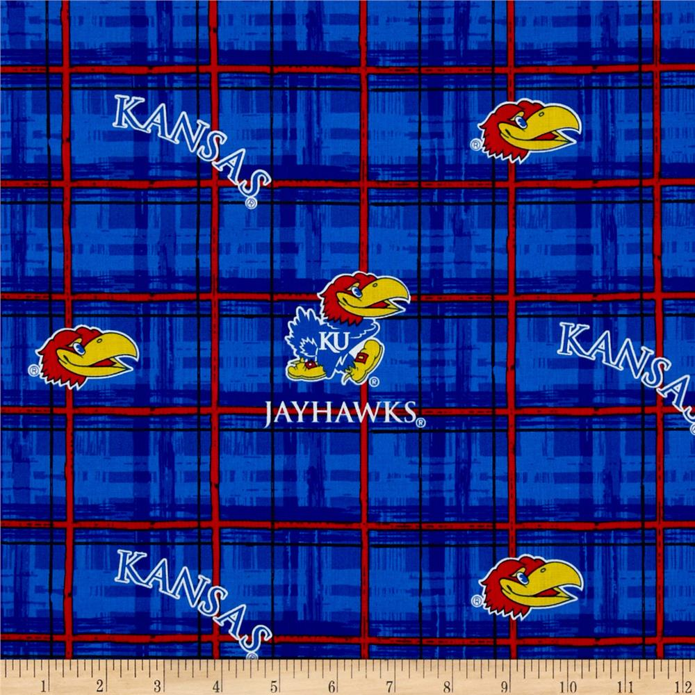 Collegiate Cotton Broadcloth University of Kansas Jayhawk Fabric By The Yard