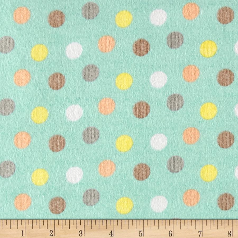 Zoovenirs Flannel Dots Light Blue