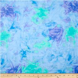 Comfy Flannel Tie Dye Blue/Green Fabric