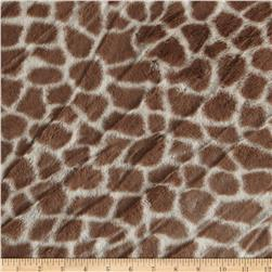 Minky Giraffe Tan/Cream
