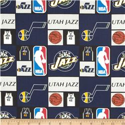 NBA Cotton Broadcloth Utah Jazz Multi Fabric