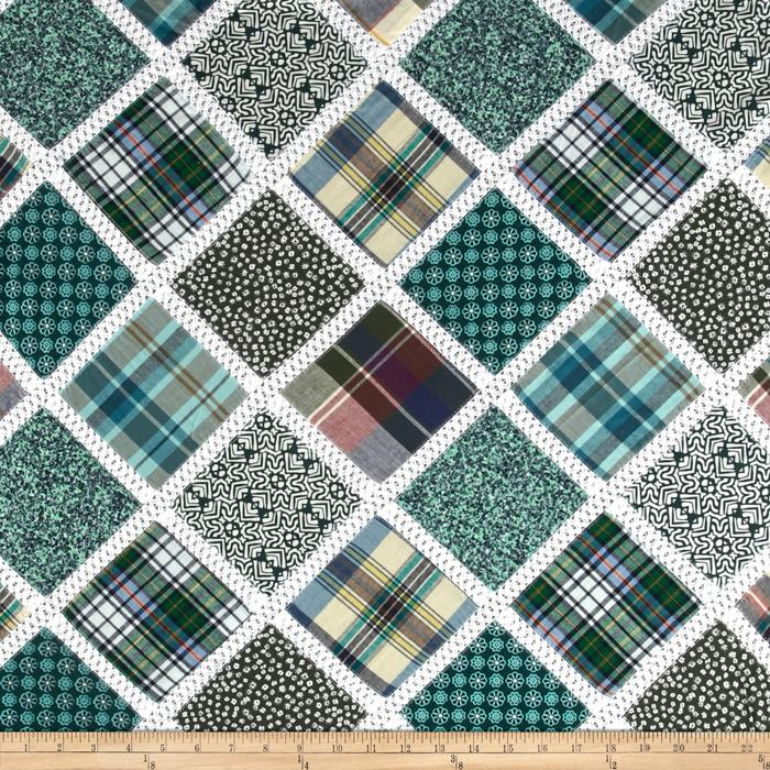 Vintage Cuts Patchwork Lawn Green