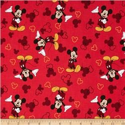 Disney Micky Mouse & Silouette Red