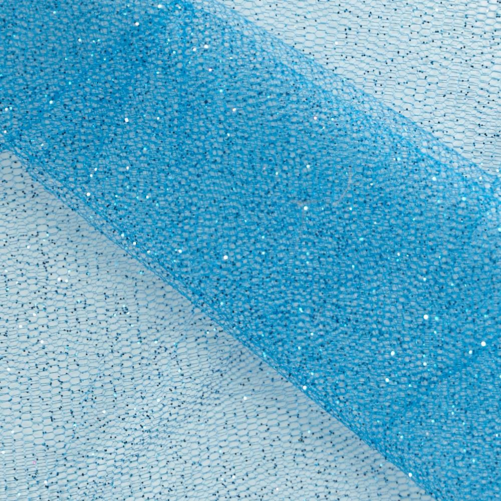 Sparkle tulle turquoise discount designer fabric for Sparkly material