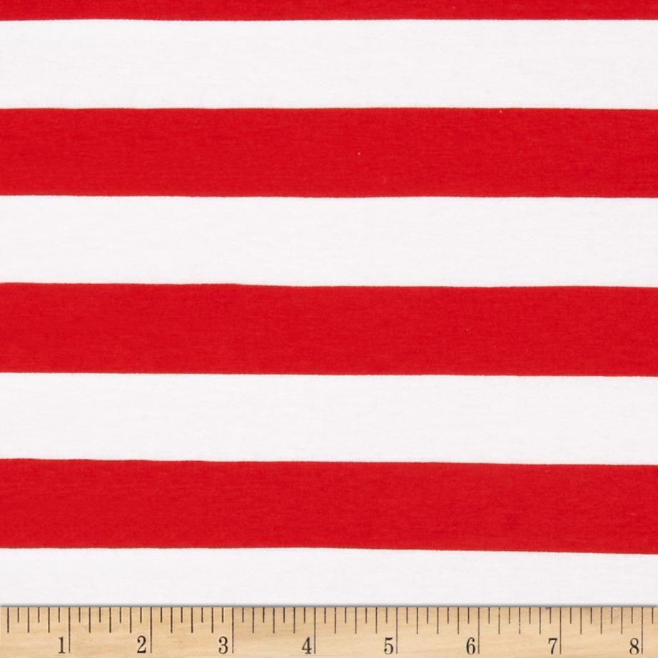 "Riley Blake Knit 1"" Stripes Red"