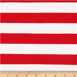 Riley Blake Jersey Knit 1'' Stripes Red Fabric