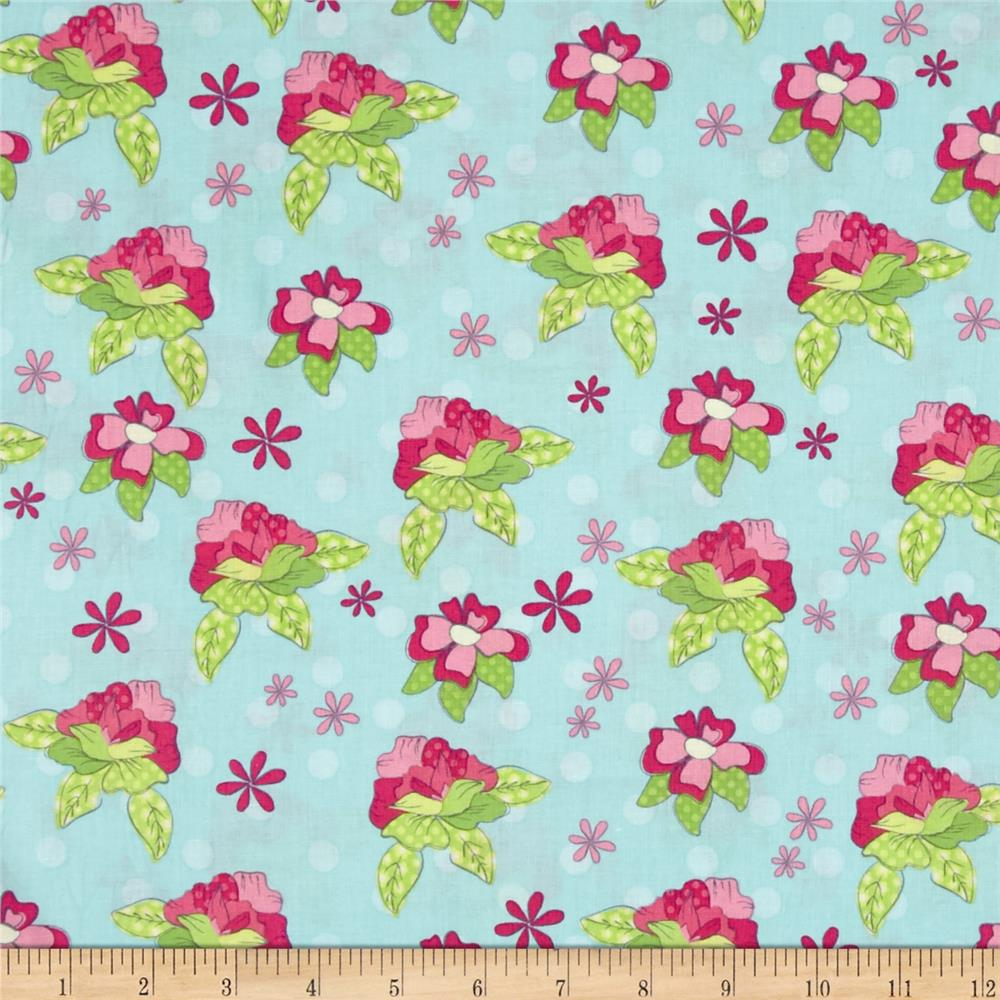 Pretty Little Things Roses Teal