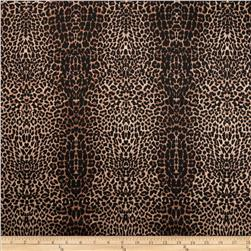 Bloom Stretch Cotton Sateen Cheetah Black Fabric