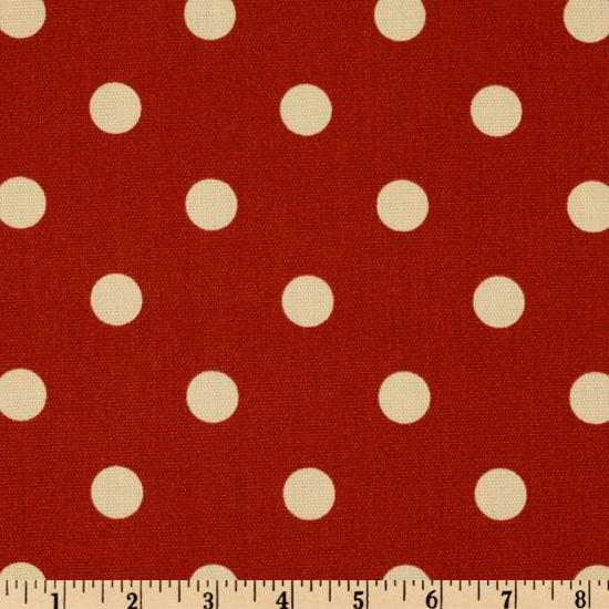 Premier Prints Indoor/Outdoor Polka Dot American Red