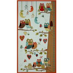 Owl Wonderful Growth Chart Panel Aqua