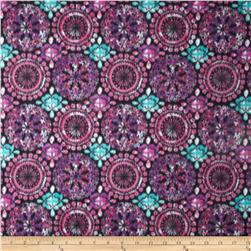 Fleece Prints Medallions Purple