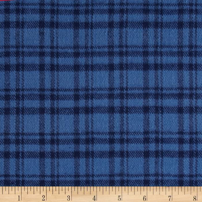 WRONG FABRIC Primo Plaids Flannel Plaid Navy