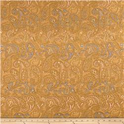French Paisley Jacquard Mustard/Blue/Coral
