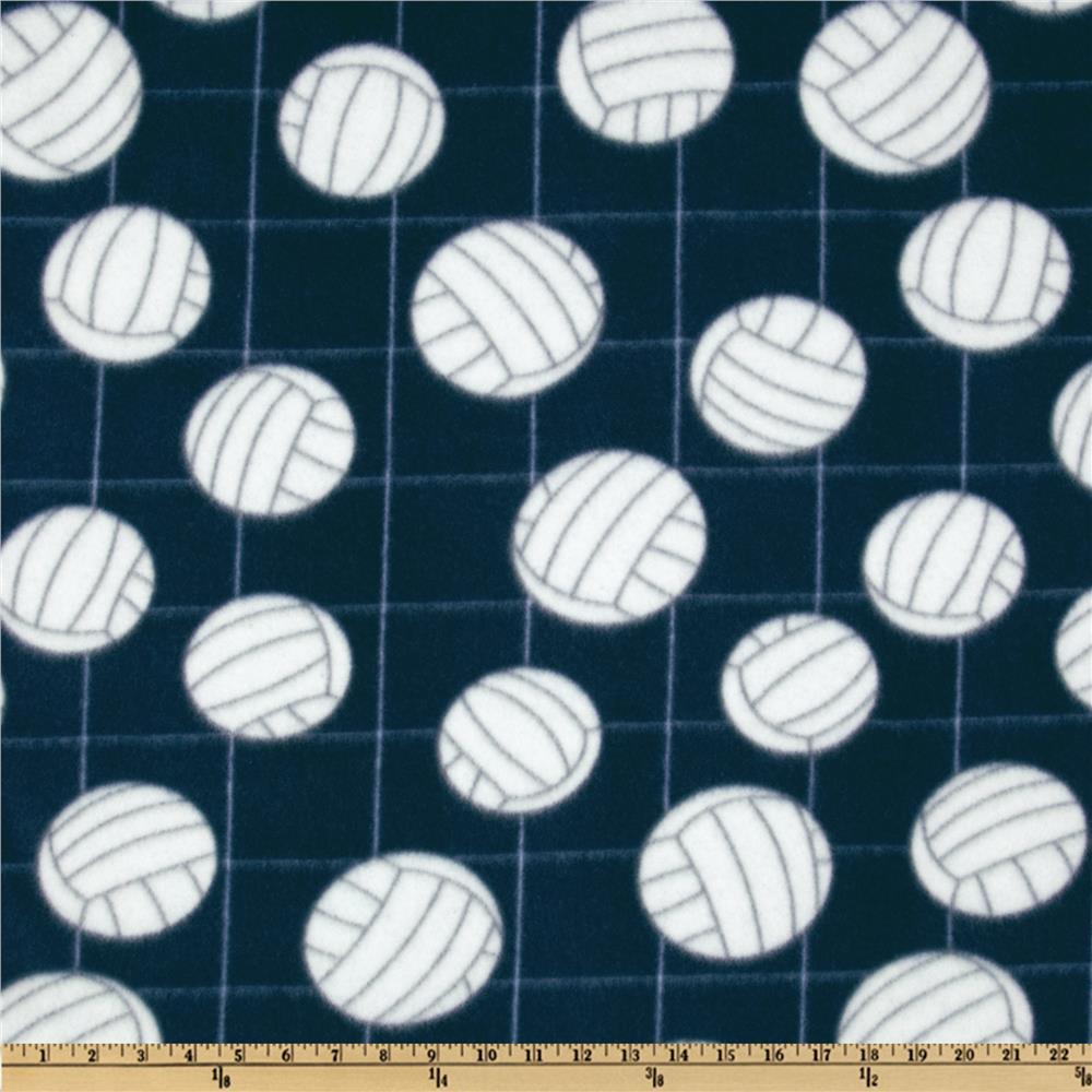 Printed Fleece Volleyball Navy