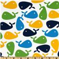 Urban Zoologie Whales Lime/Blue/White