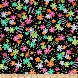 Kanvas Let's Tweet Flower Confetti Black