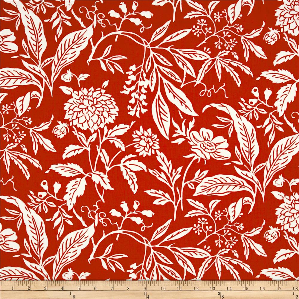 Madison Home Decor Mia Floral Red/White