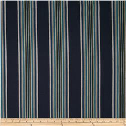 Robert Allen Promo Villa Stripe Blend Indigo Fabric