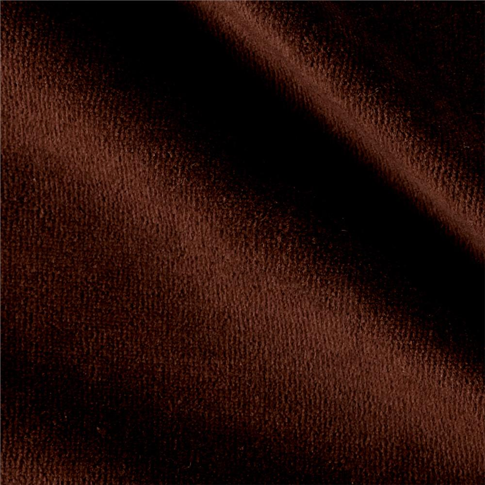 Solid Velour Brown