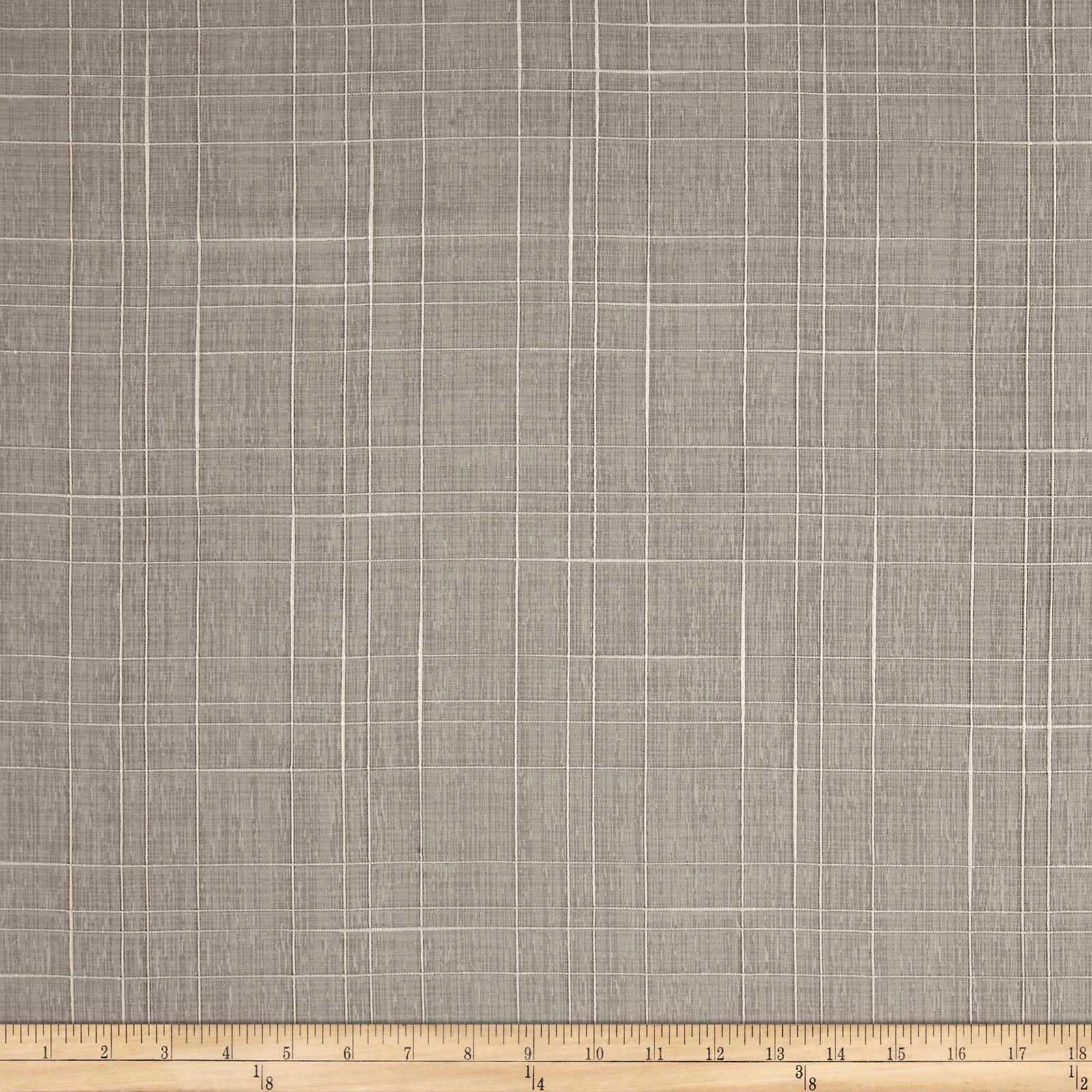 Richloom Farmhouse Drapery Lining Sheers Silver Fabric by TNT in USA