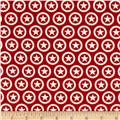Riley Blake Lucky Star Jersey Knit Circle Red