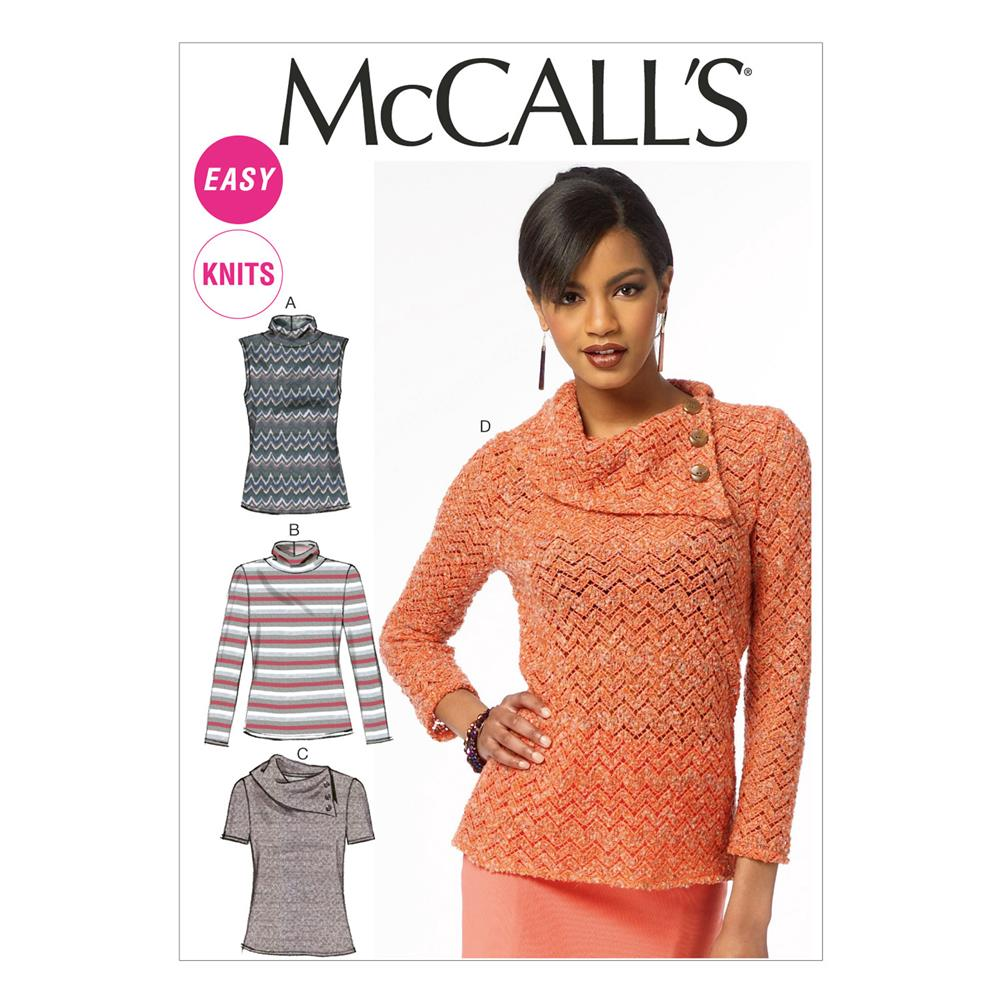 McCall's Misses' Tops Pattern M6796 Size A50