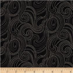 Imperial Dotted Scroll Black