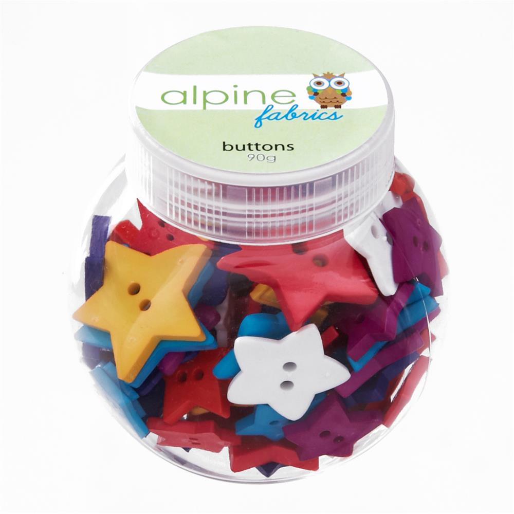 Alpine Button Jar Star Bright