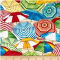 Timeless Treasures Beach Pass Umbrellas Multi
