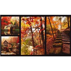 Bountiful Harvest Digital Fallscapes Panel Multi Fabric