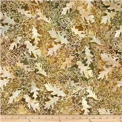Batavian Batiks Forest Leaves Golden Brown