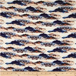 Art Gallery Heritage Rayon Challis Mountain Mirror