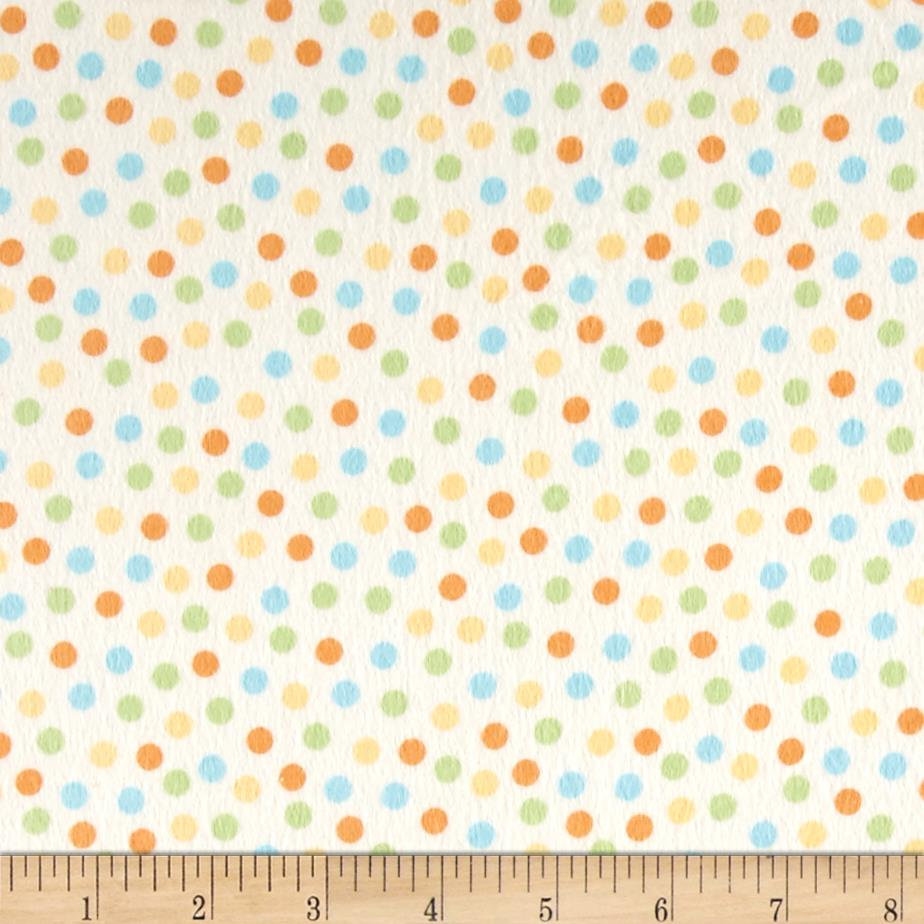 Peek-A-Boo Flannel Dots Cream/Blue