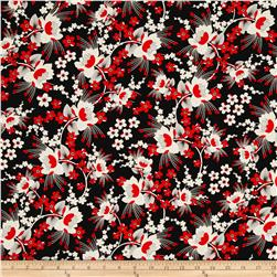 Kanvas Moon Flower Cherry Blossom Black