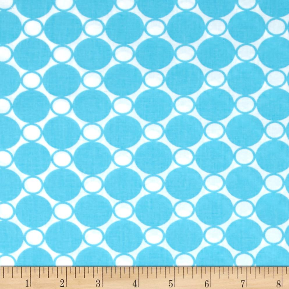 "Kaufman 108"" Wide Spot On Quilt Back Turquoise"